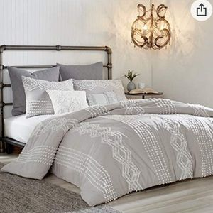 Peri Home Cut Geo 100% Cotton Comforter & Sham Set